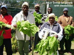 Group displaying gardening skills